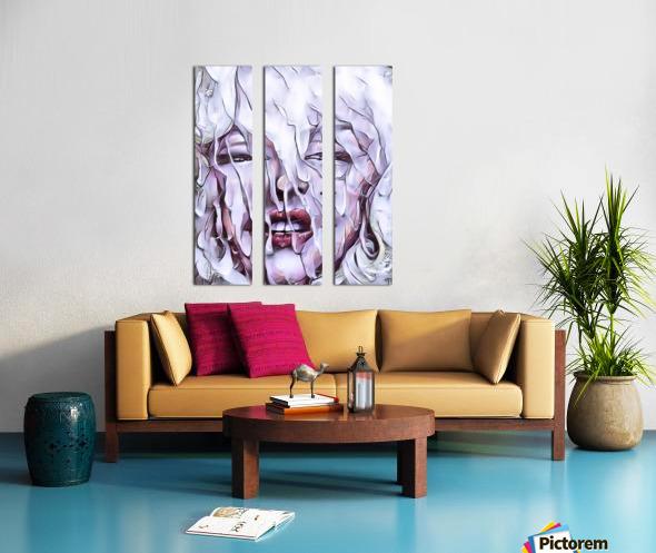 Derriere la fenetre Split Canvas print