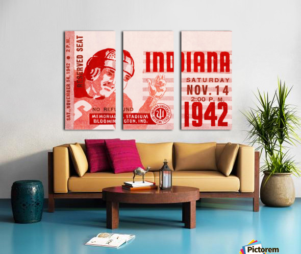1942 Indiana Football Art Split Canvas print