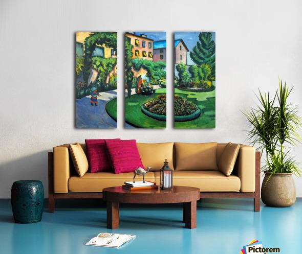 Garden image by Macke Split Canvas print
