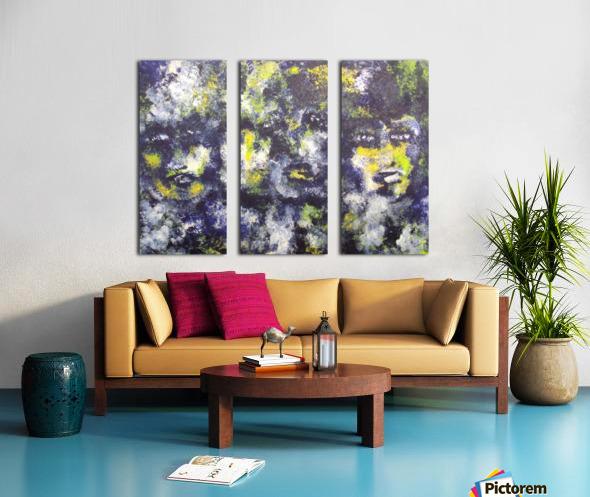 Disbonded Split Canvas print
