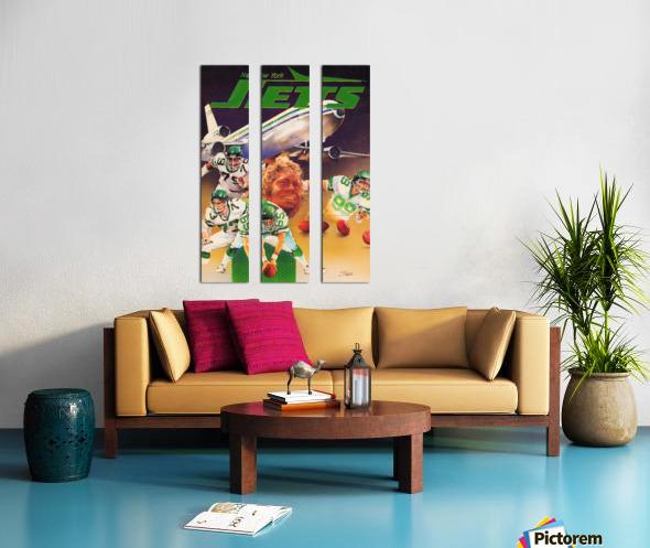 vintage new york jets poster art artist george zebot row one brand sports posters Split Canvas print