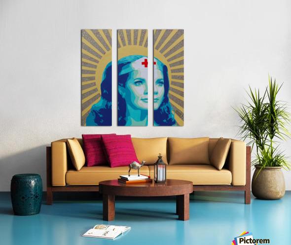 Wonder Women Split Canvas print