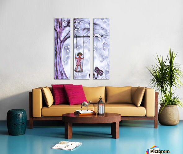 3 petits chats 3 Split Canvas print