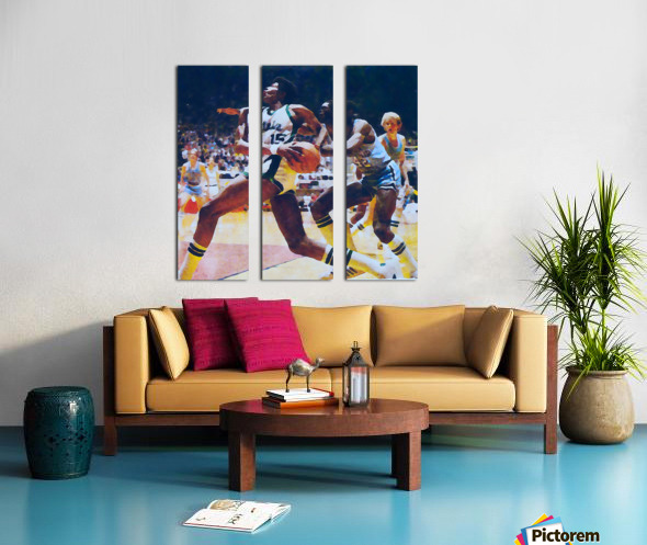 1979 michigan state spartans indiana state larry bird watercolor sports art mixed media basketball Split Canvas print