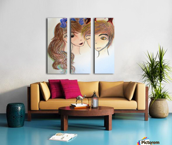 Dayfauncouplelove Split Canvas print