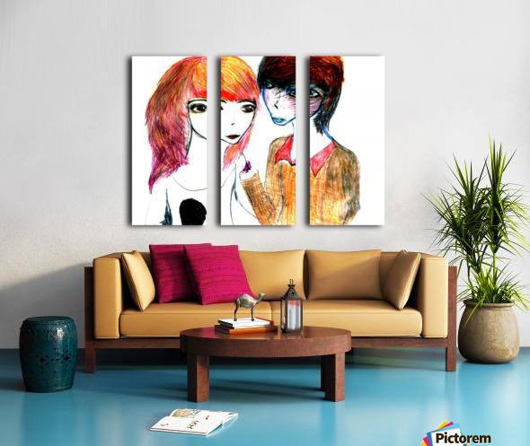 interchangingversionthree Split Canvas print