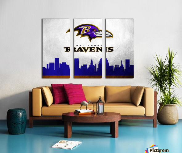 Baltimore Ravens Split Canvas print