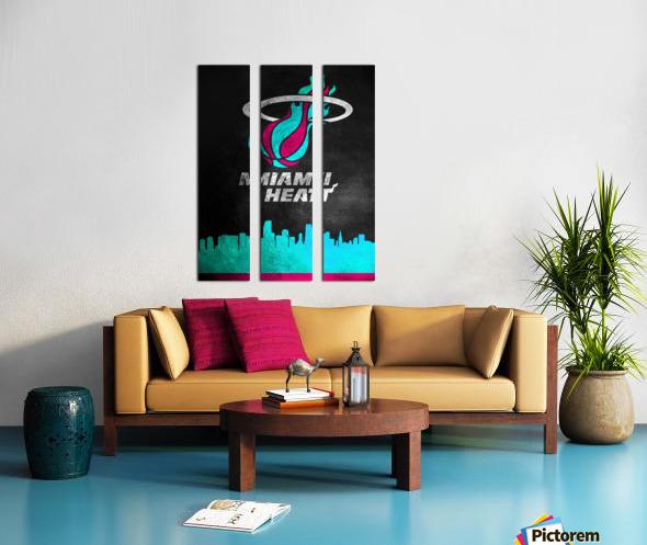 Miami Heat Vice Split Canvas print