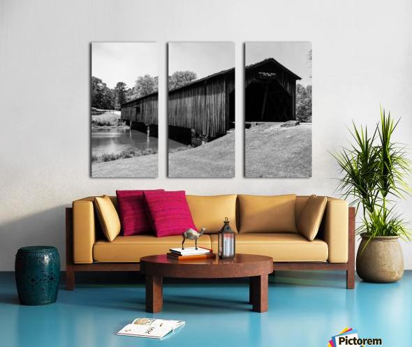Watson Mill Bridge State Park   Comer GA 06587 Split Canvas print