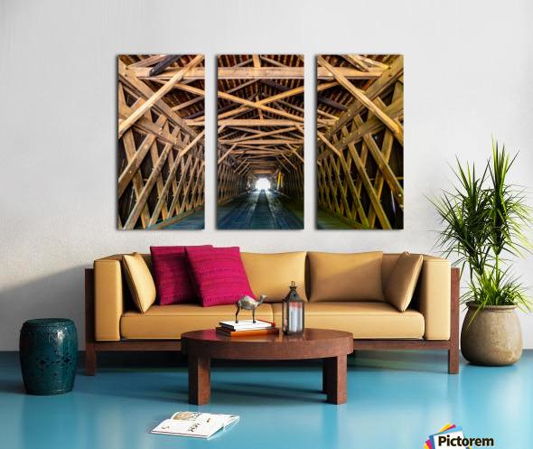 Watson Mill Bridge State Park   Comer GA 06956 Split Canvas print
