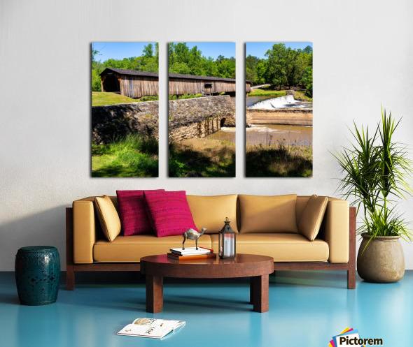 Watson Mill Bridge State Park   Comer GA 06576 Split Canvas print