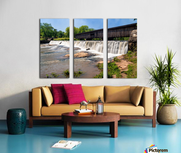 Watson Mill Bridge State Park   Comer GA 06914 Split Canvas print