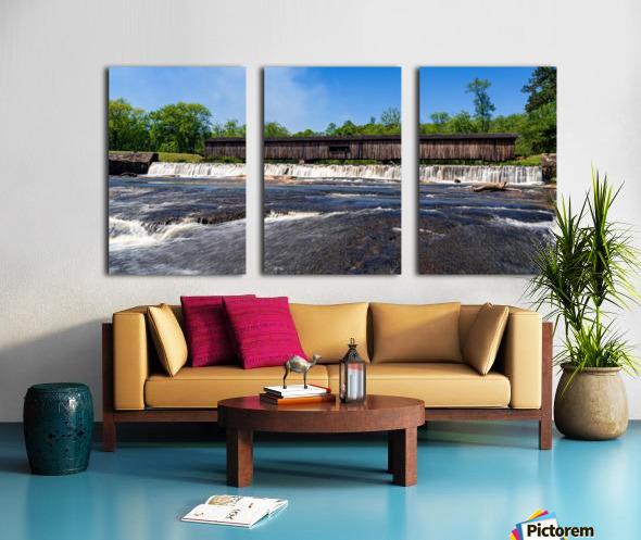 Watson Mill Bridge State Park   Comer GA 06668 Split Canvas print