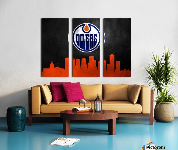 Edmonton Oilers Split Canvas print
