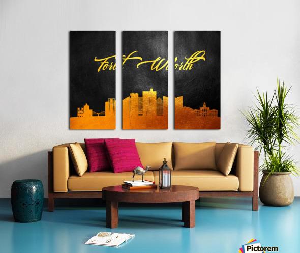 Fort Worth Texas Skyline Wall Art Split Canvas print
