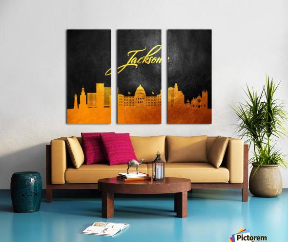 Jackson Florida Skyline Wall Art Split Canvas print
