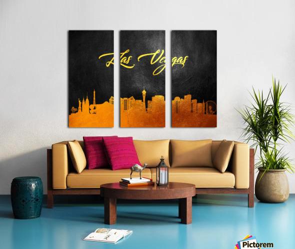 Las Vegas Nevada Skyline Wall Art Split Canvas print
