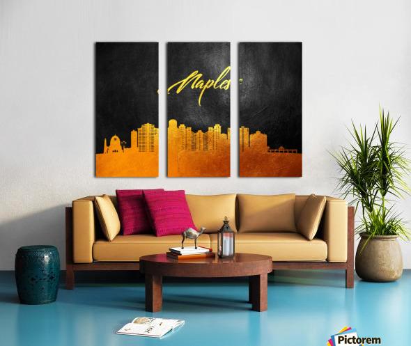 Naples Florida Skyline Wall Art Split Canvas print