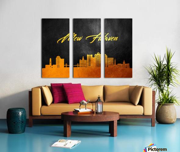 New Haven Connecticut Skyline Wall Art Split Canvas print