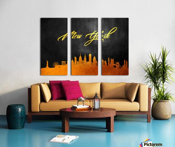 New York New York Skyline Wall Art Split Canvas print