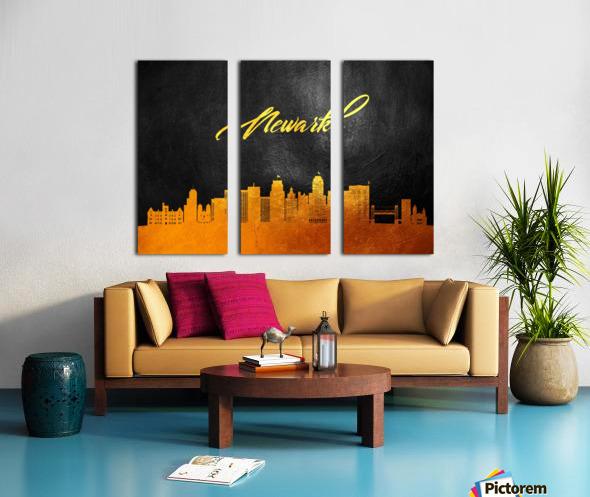 Newark New Jersey Skyline Wall Art Split Canvas print
