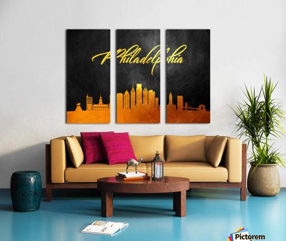 Philadelphia Pennsylvania Skyline Wall Art Split Canvas print