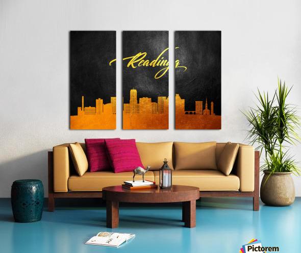 Reading Pennsylvania Skyline Wall Art Split Canvas print