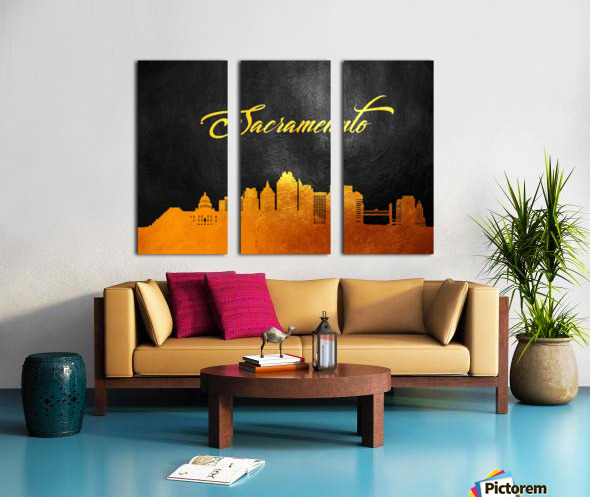Sacramento California Skyline Wall Art Split Canvas print
