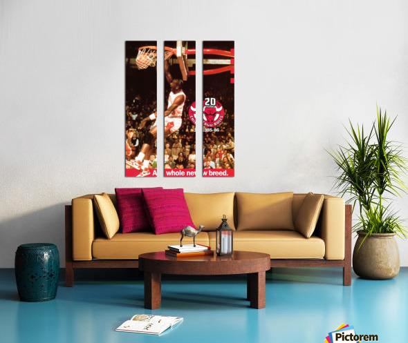 1985 Michael Jordan Dunk Poster Bulls 20th Anniversary Split Canvas print
