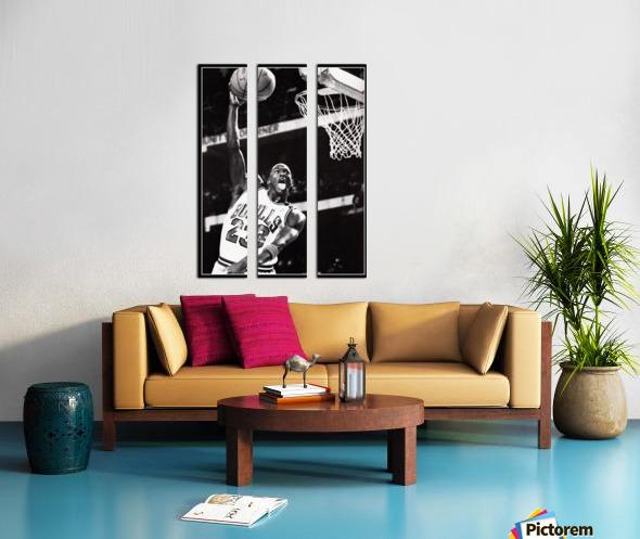 Retro Eighties Michael Jordan Basketball Art Print Split Canvas print