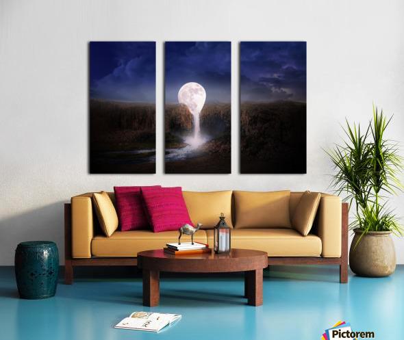 moon landscape night fantasy Split Canvas print