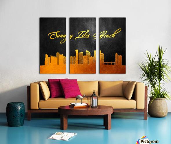 Sunny Isles Beach Florida Skyline Wall Art Split Canvas print