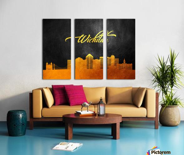 Wichita Kansas Skyline Wall Art Split Canvas print