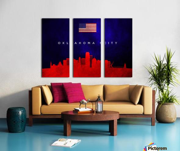 Oklahoma City Oklahoma Skyline Wall Art Split Canvas print