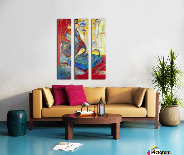 From the series of: Music Split Canvas print
