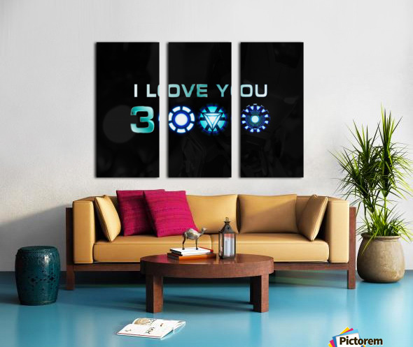 I Love You 3000 Blue Split Canvas print