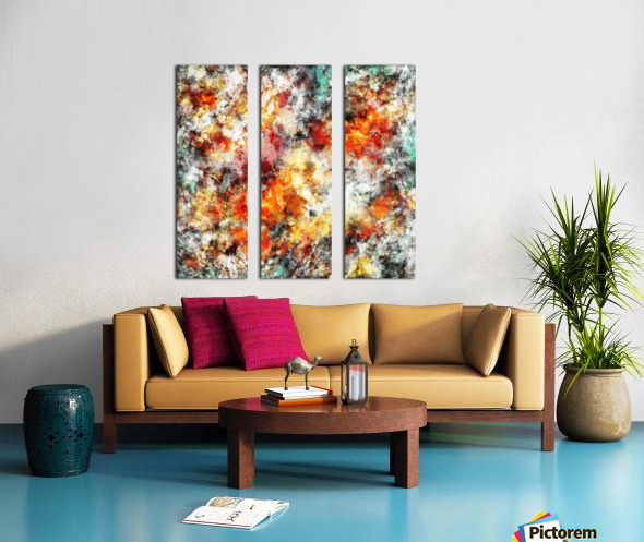 Afterburner Split Canvas print