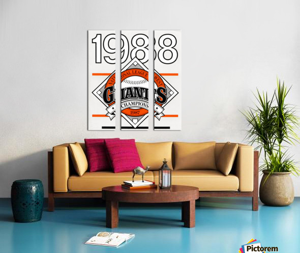 San Francisco Giants 1988 Split Canvas print