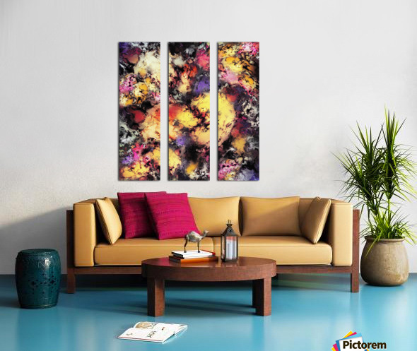 Ashes and heat Split Canvas print
