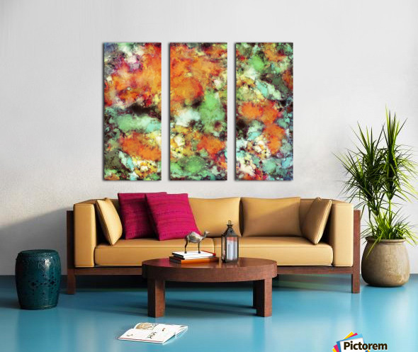 Big cloud collider Split Canvas print