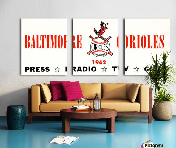 baltimore orioles press guide row one Split Canvas print
