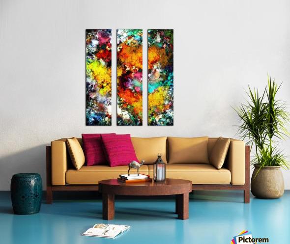 Blaze Split Canvas print