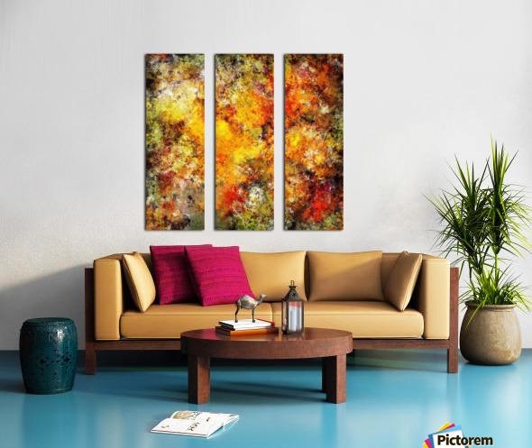 Blistering 2 Split Canvas print