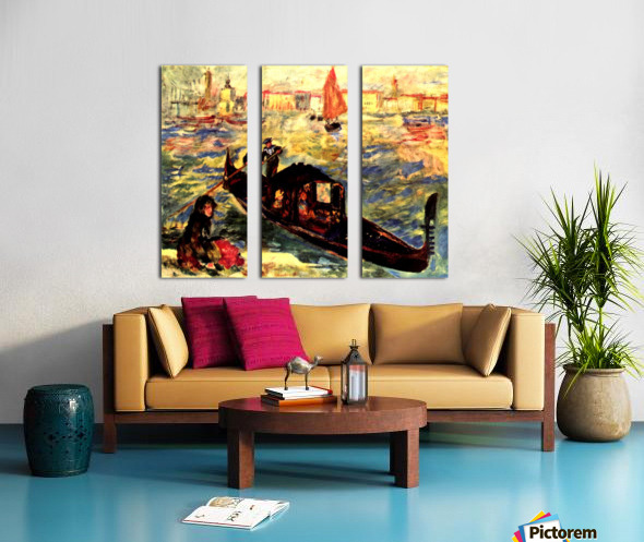 Gondola on the Canale Grande Split Canvas print