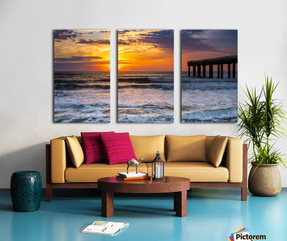 Daybreak Split Canvas print
