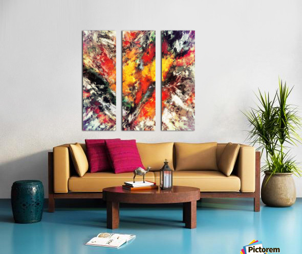 Clattering Split Canvas print