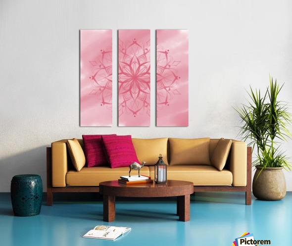 pink mandala Split Canvas print