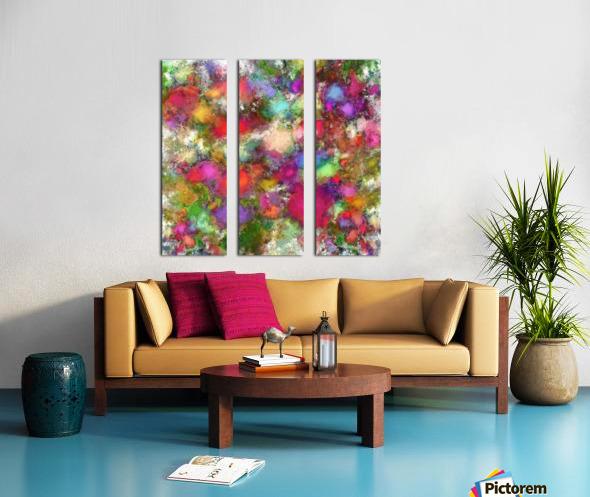 Falling petals Split Canvas print
