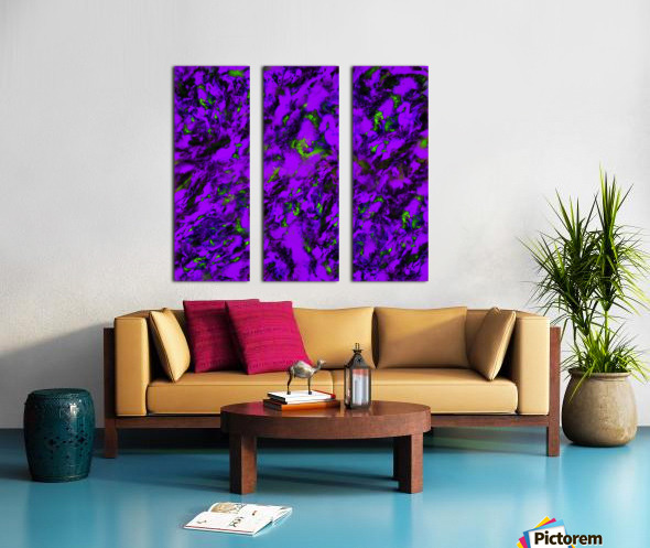 Fluttering purple Split Canvas print
