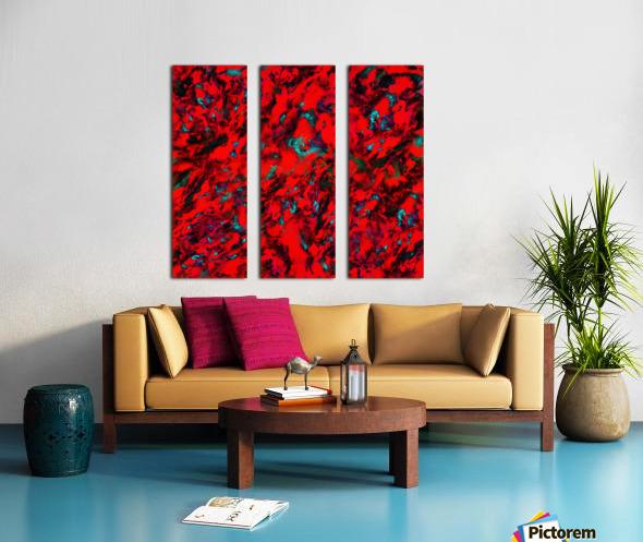 Fluttering red Split Canvas print